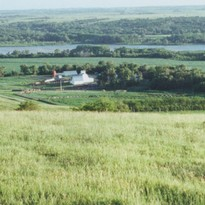 Overview from top of the hill overlooking the Niobrara River Valley and Kreycik River view home place.