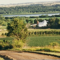 Scenic view of the Kreycik home site down in the Niobrara River Valley.